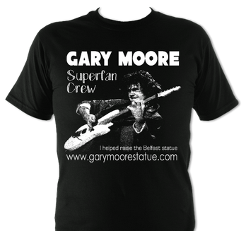 New Superfan Fundraising Tee in Black